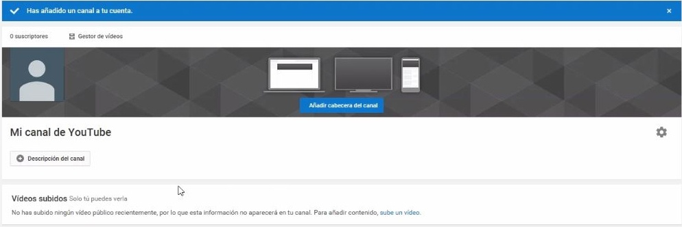 Captura dest Video como crear canal YT